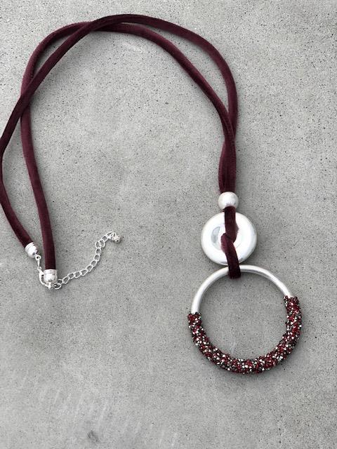 halsband-silver-vinrod