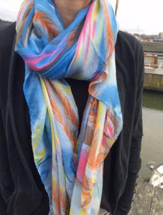 Adela blå lo-ika sjal