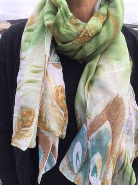 Adela grön lo-ika sjal