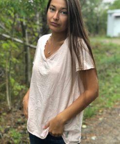 ljusrosa t-shirt
