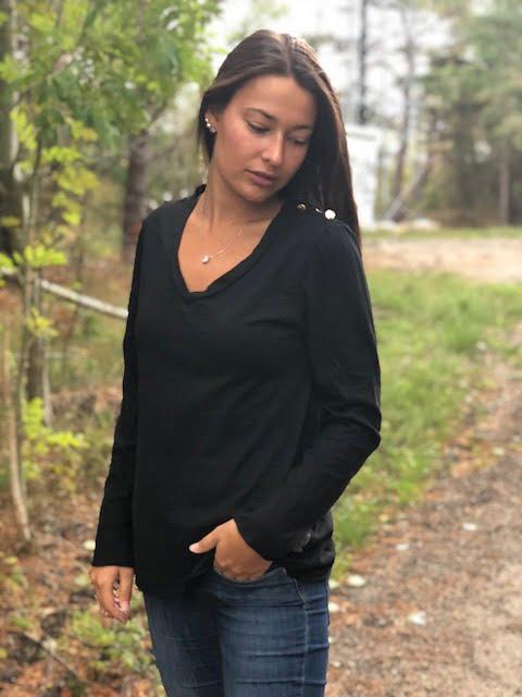 svart långärmad t-shirt