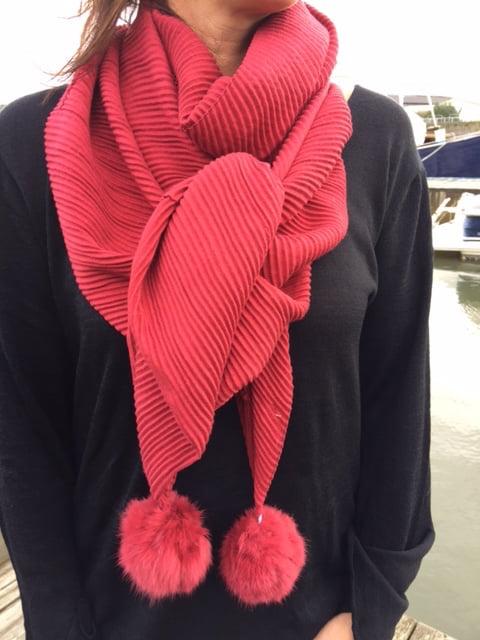 ally röd sjal