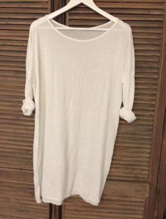 klänning/oversize tröja vit