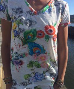 t-shirt blommor