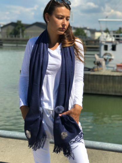 blå sjal