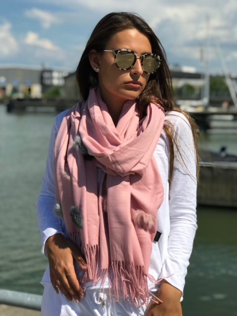rosa sjal