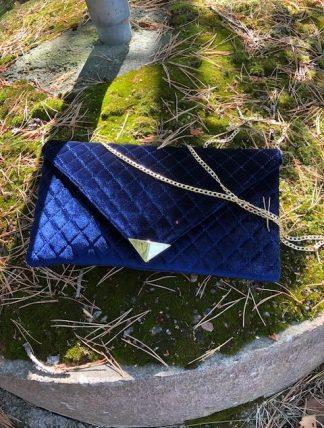 kuvertväska blå