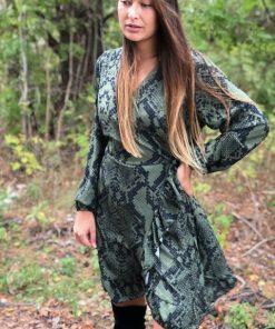 grön snake klänning