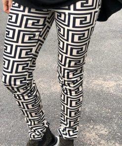 svartvita leggings