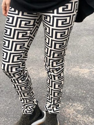 svartvita leggings