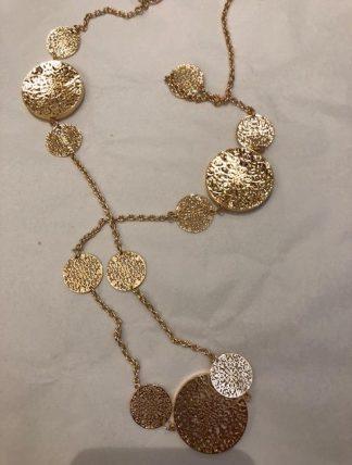 halsband plattor guld