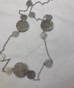 halsband plattor silver