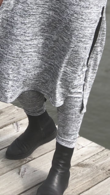 ljusgrå leggings