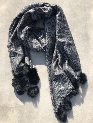 sjal svart leo