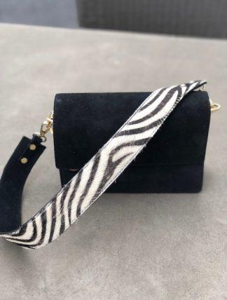 mocka skinn väska med zebra