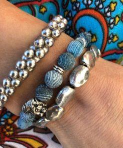 armbands set guld och blå