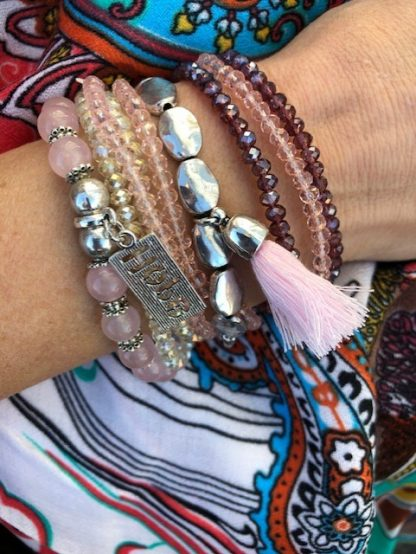 armbands set rosa