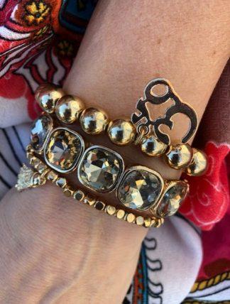 armbands set guld pärlor