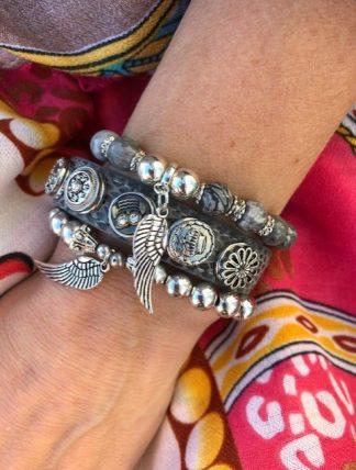 armbands set silver