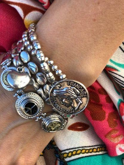 armbands set silver peng