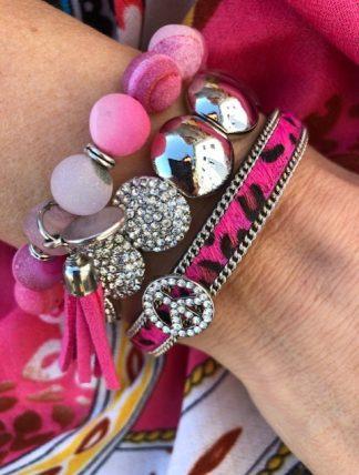 armbands set rosa leo