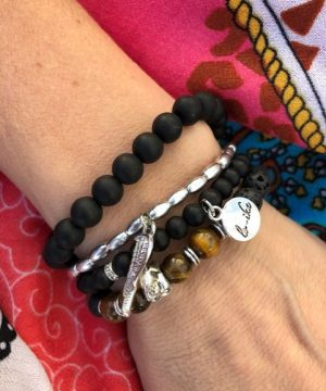 armbands set svart och silver