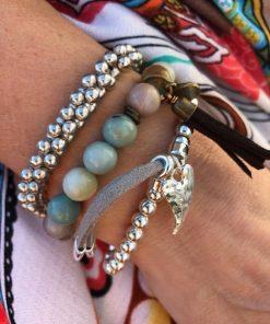 armbands set turkos och silver