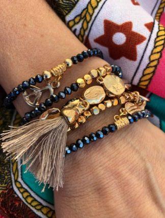 armbands set guld med toffs