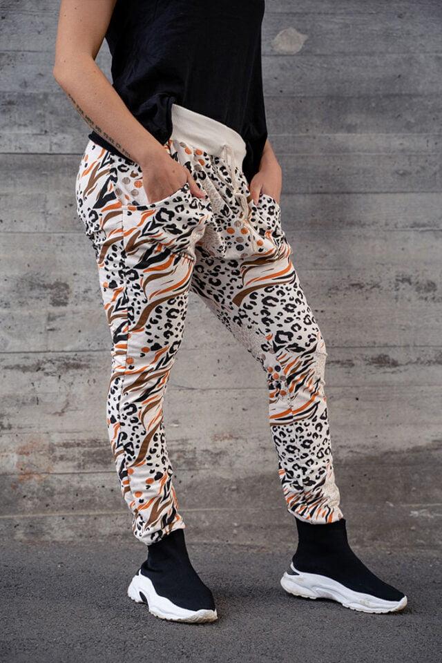 Annemi leo zebra loika byxor med häng