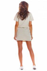 kjol och topp randigt set till dam