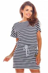 Randig miniklänning för damer