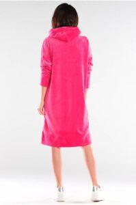 Rosa lång hoodie/klänning