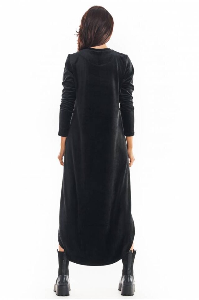 Svart sammetsklänning dam