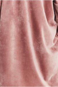 Rosa sammetsbyxor med häng dam