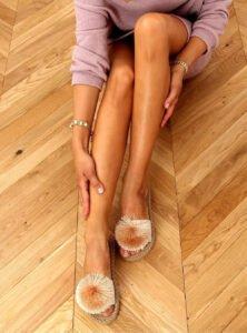 Snygga flip flops beige