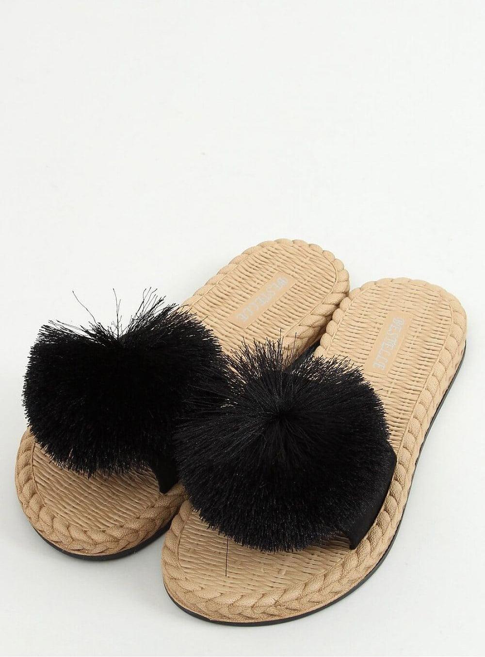 Snygga flip flops svart