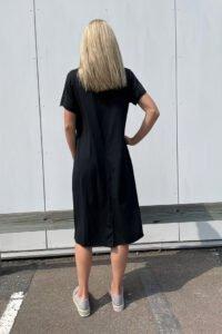 t shirtklänning dam svart