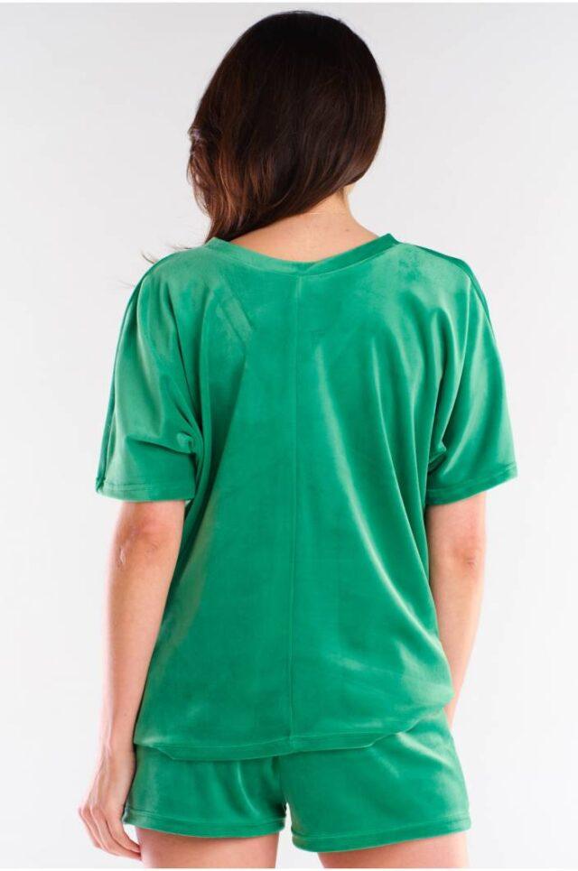 Velourshorts grön sammet