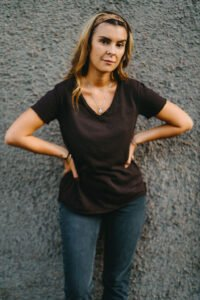 Ana t-shirt brun lo-ika