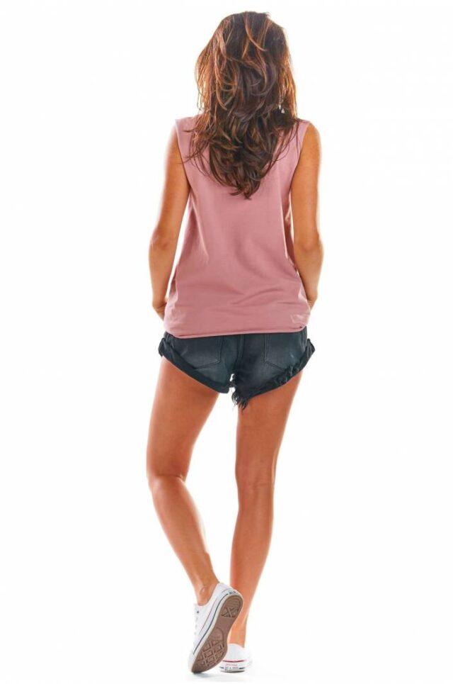 linne dam loose fit rosa