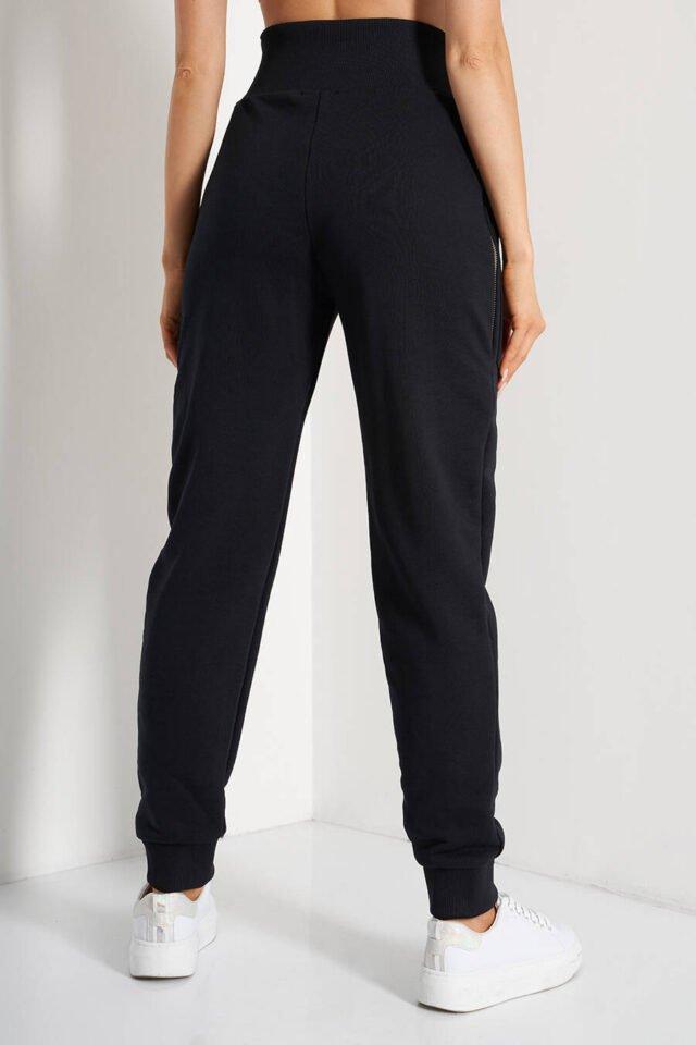 Mjukisbyxor med stora fickor och zipper