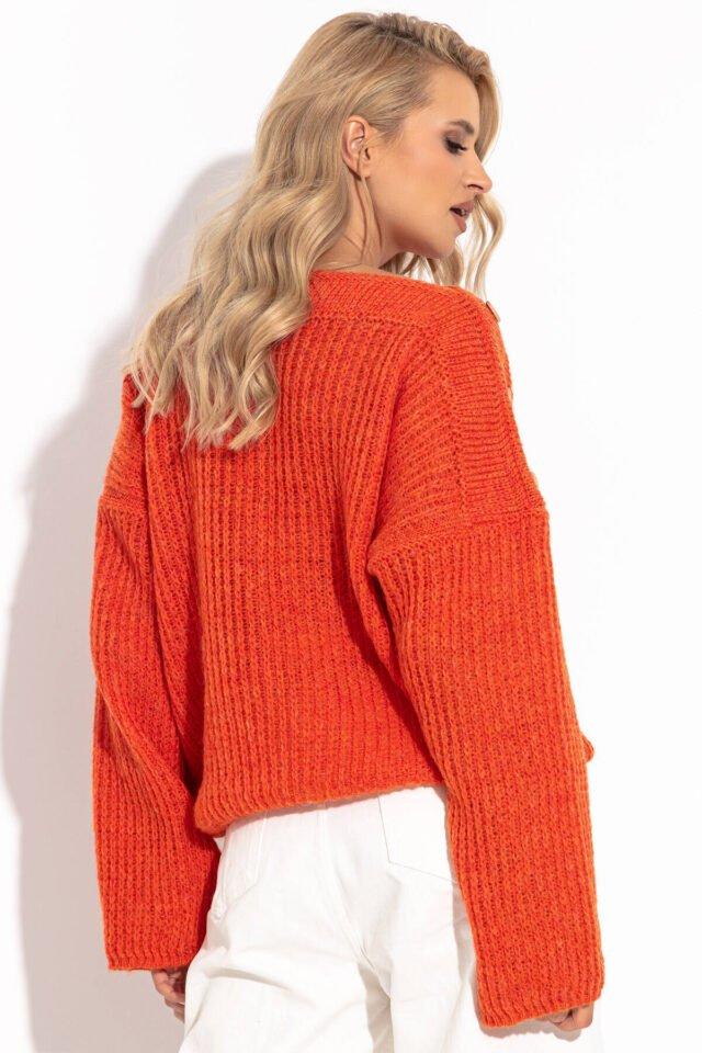Orange sweatshirt dam