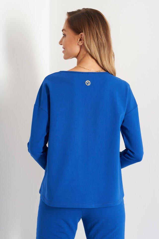 blå tröja bomull dam