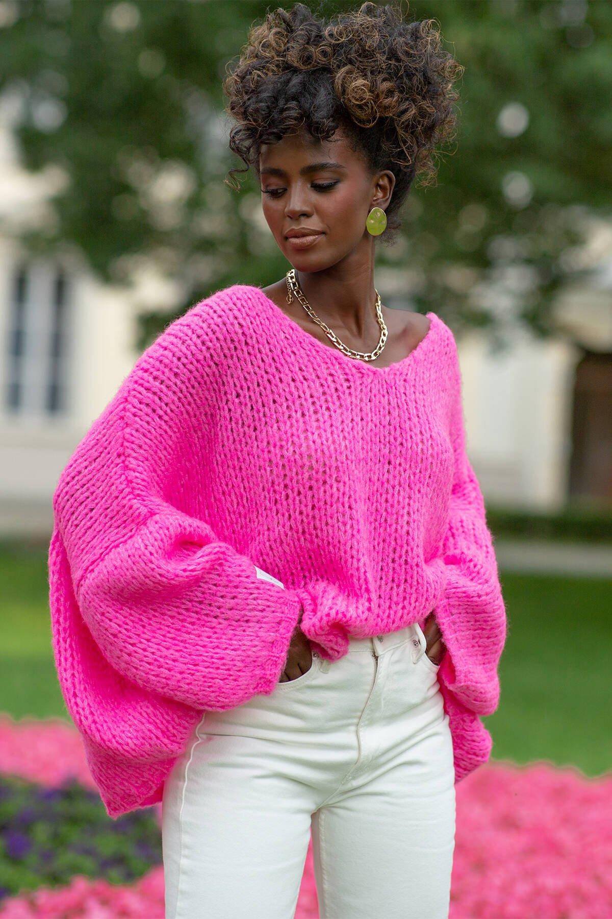 ceriserosa tröja för damer
